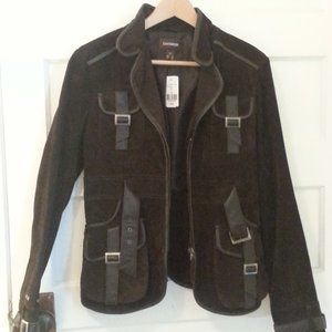 NWT Danier brown leather jacket - size S